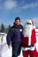 Skiing with Santa Clause in Pagosa Springs