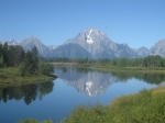 A look over Snake River at the Grand Teton Mountains